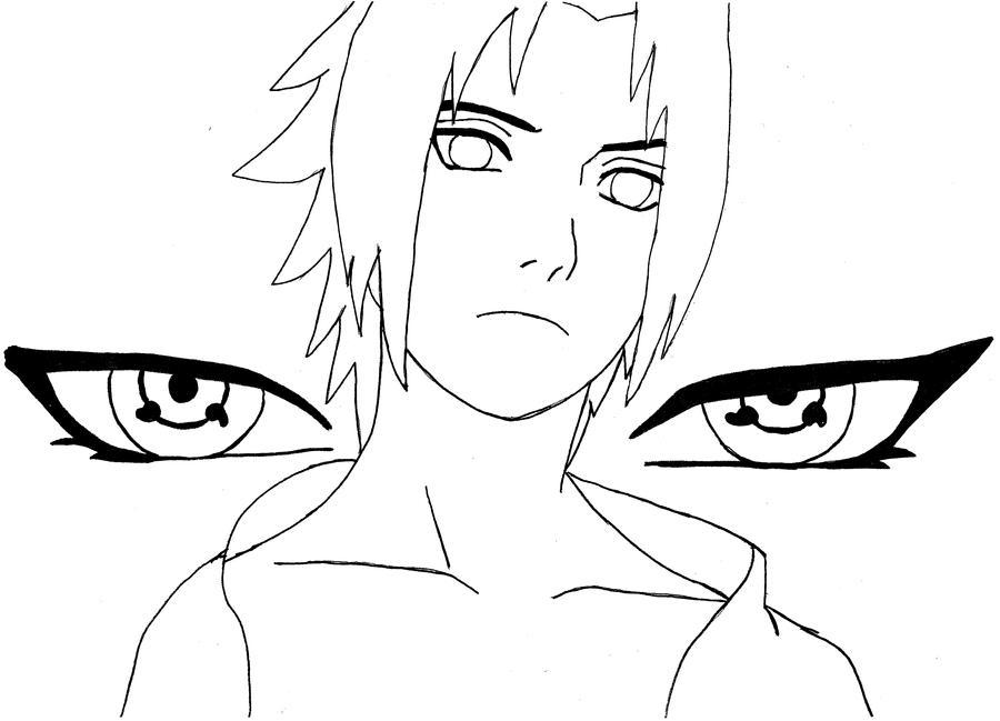 akatsuki coloring pages - lineart sasuke by akatsuki minimi on deviantart