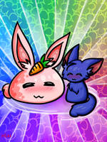 Nolegs and Slime Bunny by Hanna-Diana-Magic