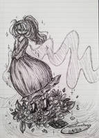 Flowery girl by Hanna-Diana-Magic