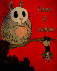 Totoro and Samhain by SAMHALLEN