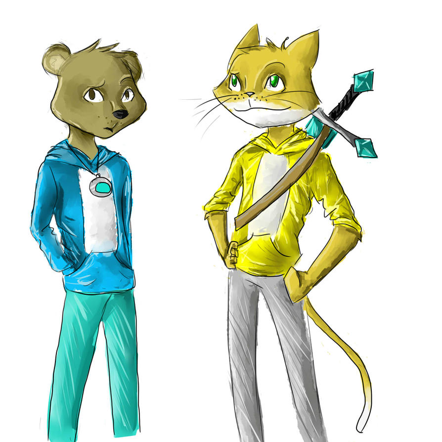Stampy cat and lee bear by kiwidrawer on deviantart stampy cat and lee bear by kiwidrawer thecheapjerseys Images