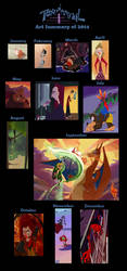 My Art Summary of 2014 by HugoJunstrand