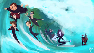 Surfs up, Swan Princess