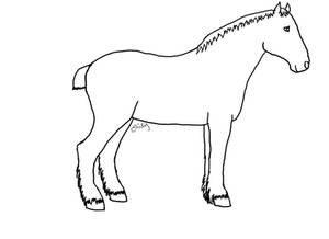 Horse Lineart 2