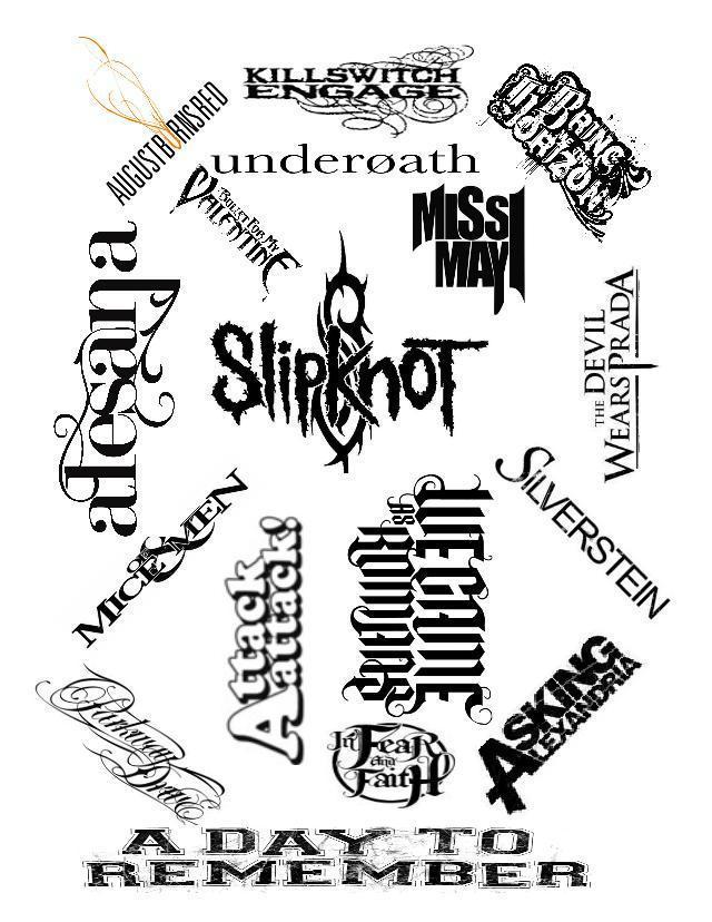 Metal band name bw collage by thenastytaco on deviantart