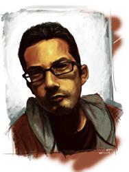 Self Portrait- Week 1 by LW-Sketch