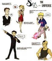 Fanficart: Sam vs the Universe by BanditBlythe