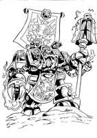 Iron Dragons: Chaplain Savaal by NachoMon