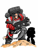 Heavy Bolter color by NachoMon