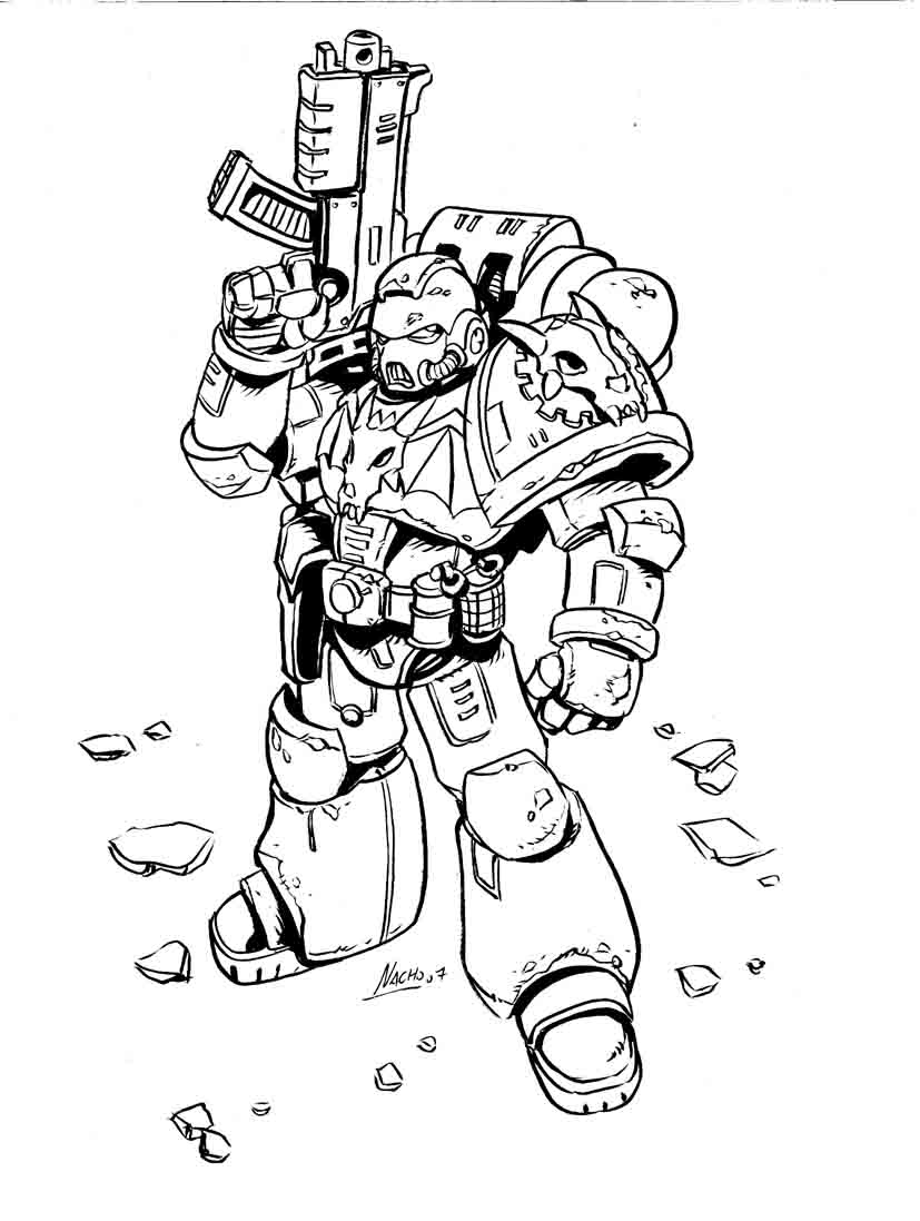 Iron dragons marine by nachomon on deviantart for Marine coloring pages