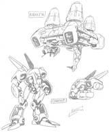 Starship old sketches by NachoMon