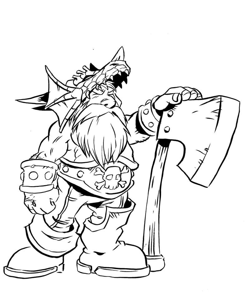 dwarf coloring pages - pirate dwarf level 3 by nachomon on deviantart