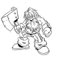 Pirate Dwarf level 1 by NachoMon