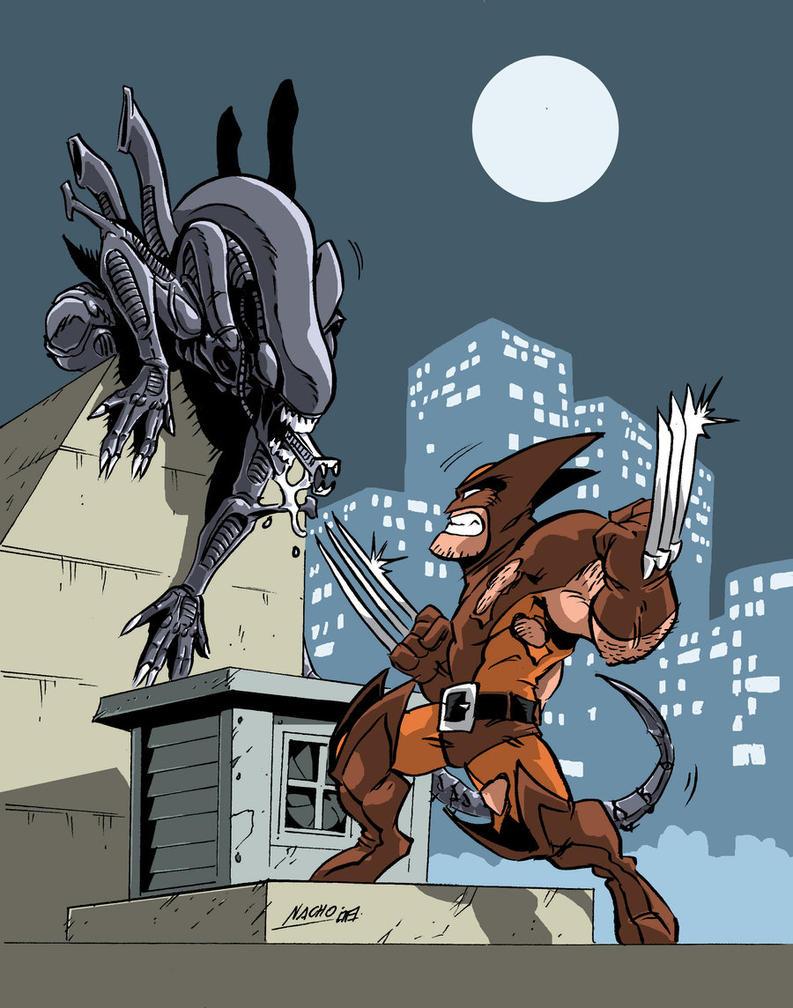 Clash of the Predators by NachoMon