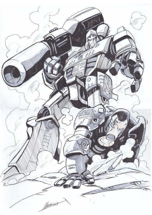 Megatron vs Stark by NachoMon