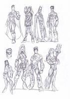 Man of Steel sketches2 by NachoMon