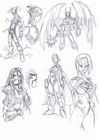 Man of Steel sketches3 by NachoMon