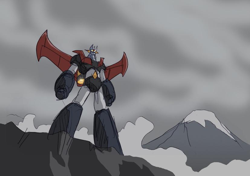 Mazinger epic sketch by NachoMon
