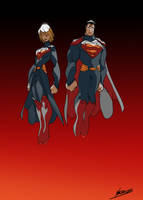 Kara and Kal: Children of Krypton by NachoMon