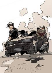 Cartoon Road Warrior