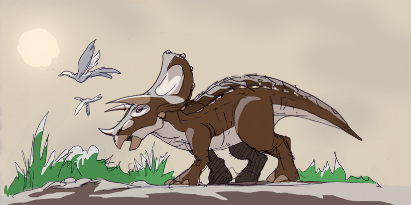 Young Triceratops by NachoMon