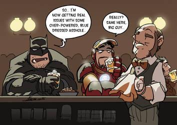 Bruce and Tony at Bar by NachoMon