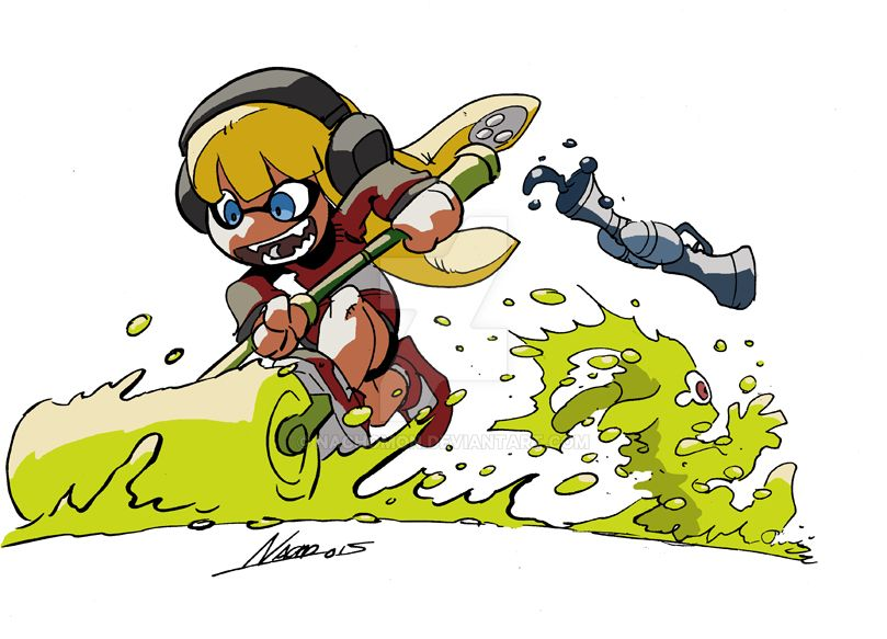 The Crazy Cute Squid Girl Attack! by NachoMon
