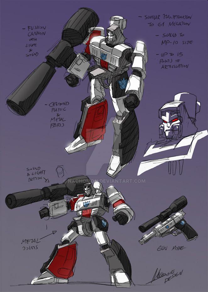 Megatron Sketches by NachoMon