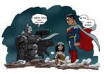 Batman v Superman just in one Panel