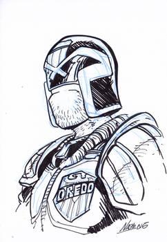 Inktober1: Dredd
