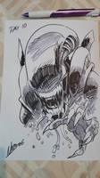 Inktober day 10: The Xenomorph by NachoMon