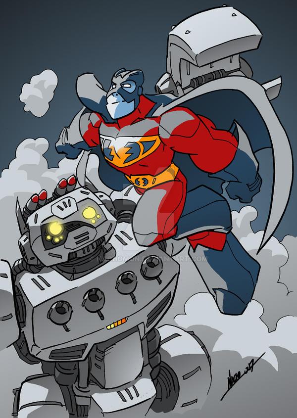 Supersonic Man Flies Again by NachoMon