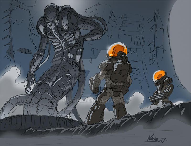 Alien Ancestor by NachoMon