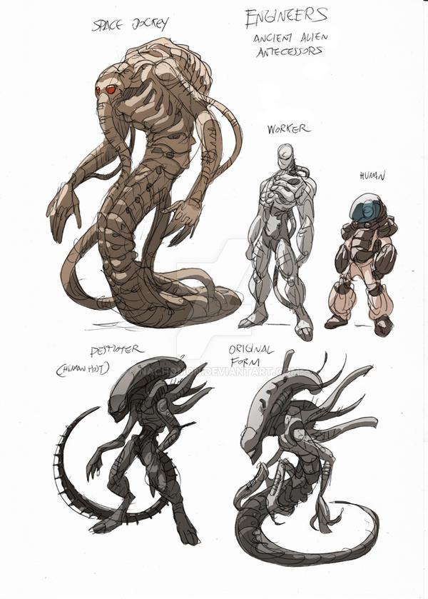 Alien Ancestor II by NachoMon