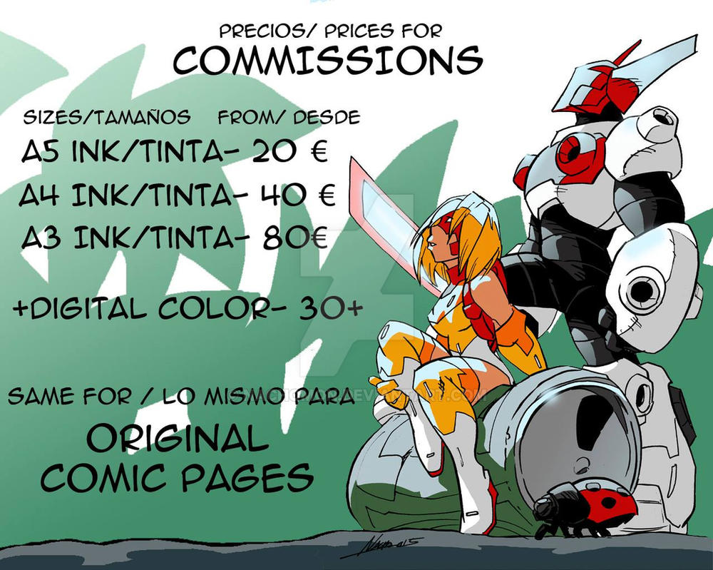 Rate prices for Commissions by NachoMon