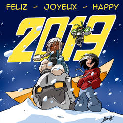 Happy 2019 by NachoMon