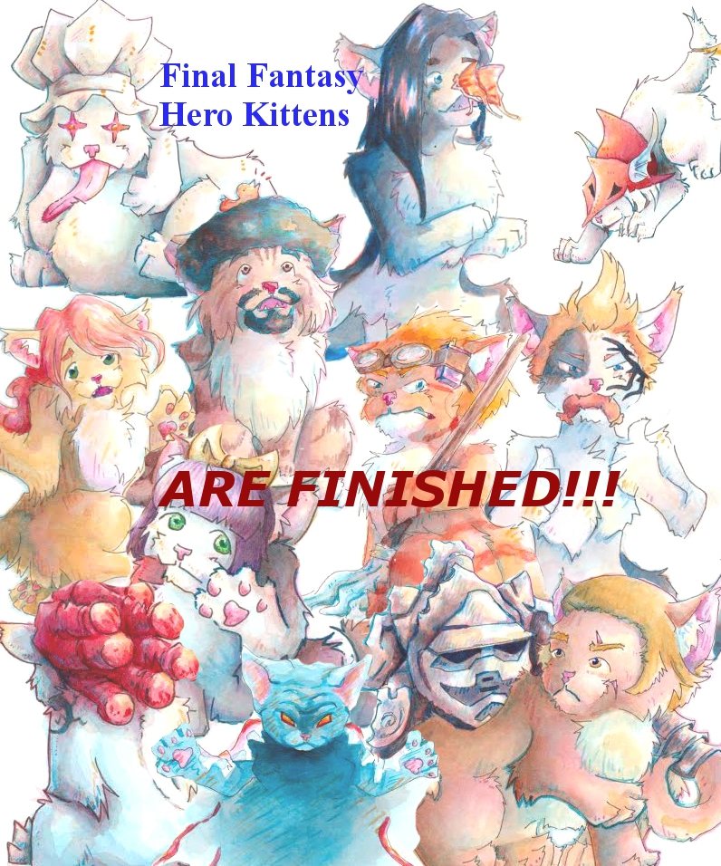 Final Fantasy Hero Kittens! by LossingFeathers