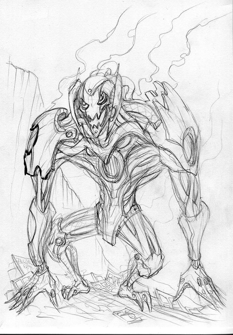 Ultron WIP by Clone-Artist