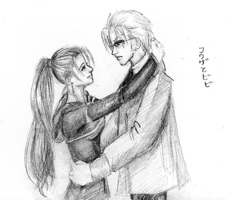 Vivi and Kouza by Konekodesu