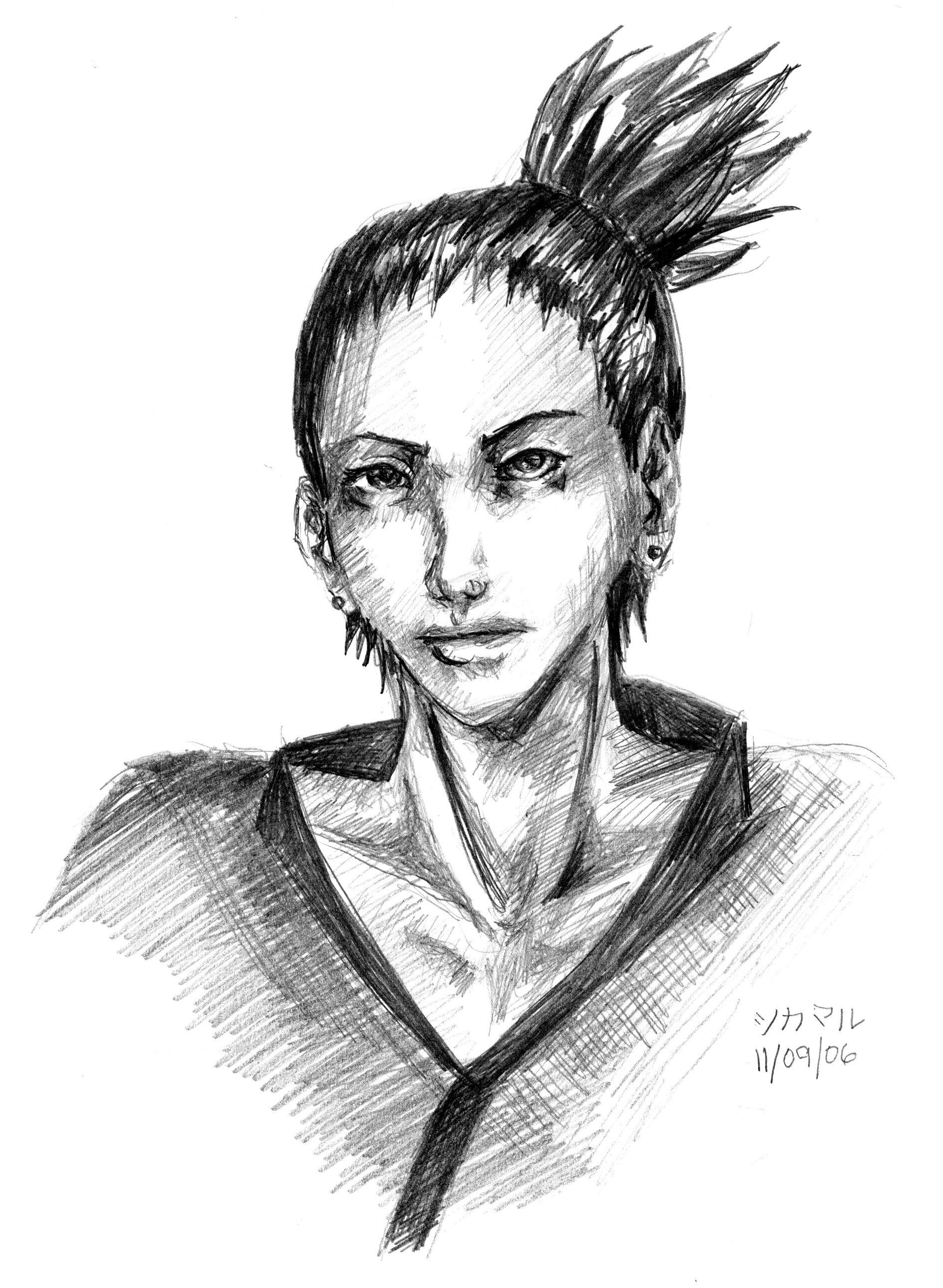 Portrait of Shikamaru by Konekodesu