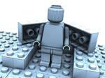 Lego Dude Wireframe