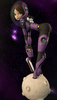 Space Girl 3000 3D by Squint911