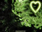 Green Shiny Heart