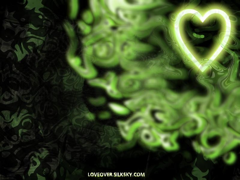 Green Shiny Heart by LoversHorizon