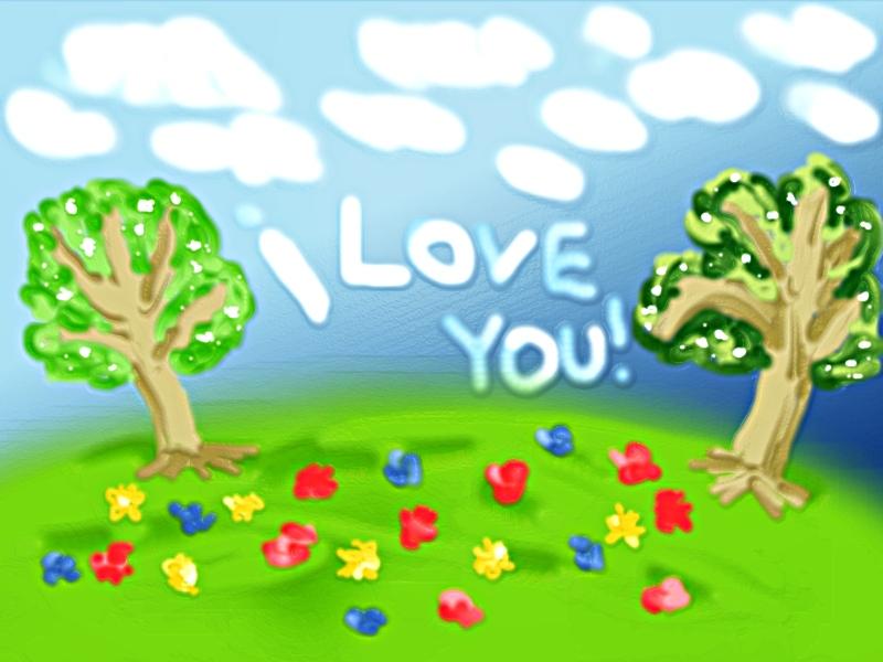 Simple Love Wallpaper by LoversHorizon