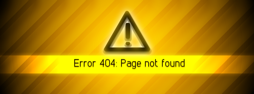 404 Error - Facebook Cover by LoversHorizon