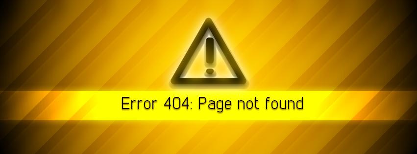 404 Error - Facebook Cover by LoversHorizon