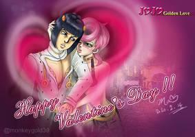 JOJO-Valentine Greeting CG-Trish+Bruno by littleredmao