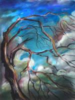 dead tree by ledaryuga