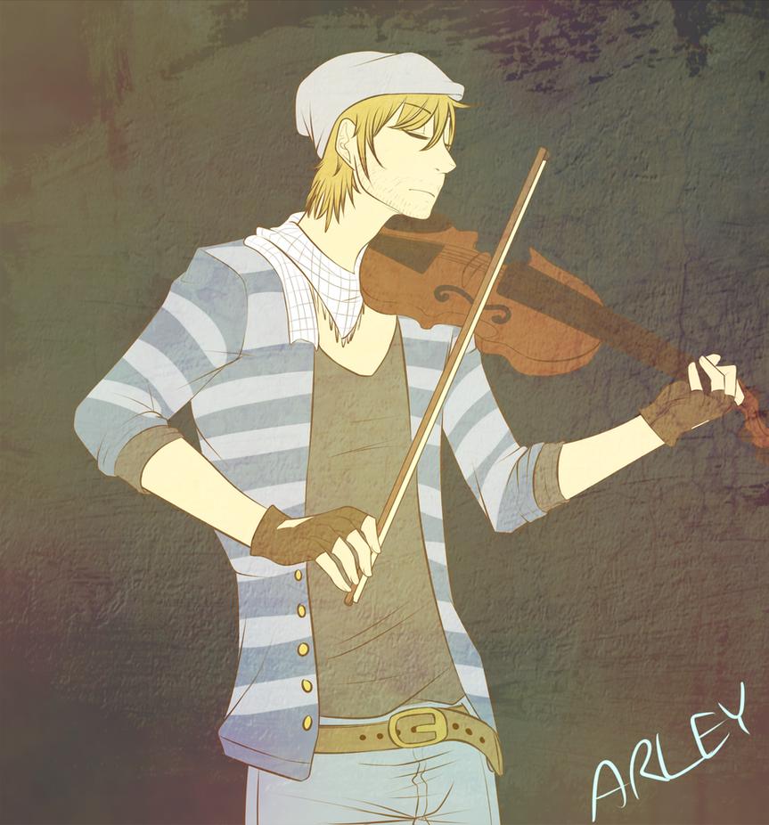 Playing Violin by Alex-Makoshi